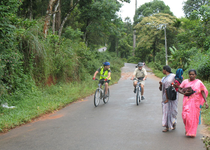 A dash of colour  during cycling from Munnar to Periyar