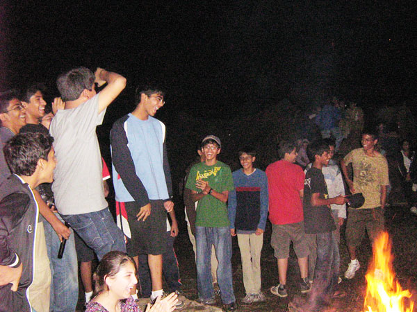 Around the Campfire at Munnar camp